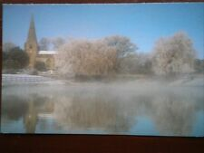 POSTCARD YORKSHIRE BROMPTON VIEW OVER MISTY WATER