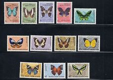 PAPUA NEW GUINEA  1966 BUTTERFLIES definitives complete VF MH