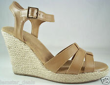 G.H. Bass & Co. QUEENBEE Tan Open Toe Wedge Style Sandal  NIB Size 10 M