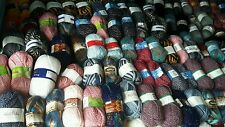 joblot mixed 100 X 100g balls of yarn in assorted colours CROCHET KNITTING