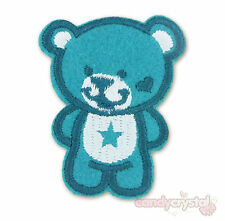 Care Bear Blue Bear Kitsch Kawaii Embroidered Iron / Sew On Applique Patch Badge