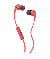 SkullCandy Dime Womens In-Ear Headphones 1 Button Remote & Mic Burgundy Floral