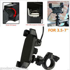 "3.5-7"" Car Motorcycle Holder Cell Phone Mount Holder + All Phones USB Charging"