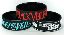 BLACK VEIL BRIDES PIERCE THE VEIL SLEEPING WITH SIRENS 3x Bracelet Wristband3w19