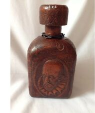 Vintage /Antique Leather Decanter With Glass Bottle