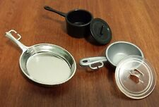 Barbie Doll Kitchen Accessories Mixed Lot Pots and Pans with Lids