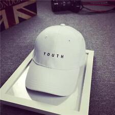 Women Mens Boy Embroidery Cotton Baseball Cap Snapback Hip Hop Flat Hat White