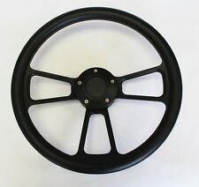1948 - 1959 Chevy Chevrolet Pick Up Truck Black on Black Steering Wheel 14""
