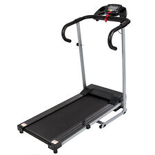 Black 500W Portable Folding Electric Motorized Treadmill Running Fitness Ma
