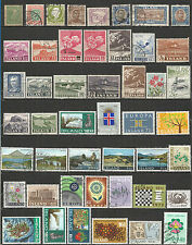 Iceland from 1902 nice collection used stamps