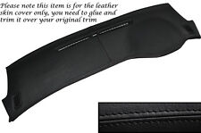 BLACK STITCH TOP DASH DASHBOARD LEATHER COVER FITS MITSUBISHI LANCER EVO 7 8 9