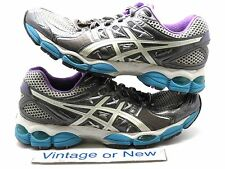 Women's Asics Gel Nimbus 14 Lighting White Electric Running Shoes T291N sz 9