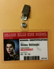 Teen Wolf ID Badge -Beacon Hills High Stiles Stilinski  prop cosplay costume