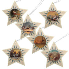 150 Glittered Star Christmas Gift Tags with Victorian Images