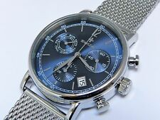 Swiza Men's Alza Chrono watch with steel mesh bracelet, Swiss made.