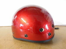 New Fulmer Half Red M AF-10 Damaged DOT Certified Motorcycle Helmet