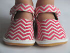 Toddler Shoes - Squeaky Shoes - Pink Chevron, Mary Jane, Up to Toddler Size 7