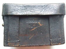 VINTAGE 1958 BROWN LEATHER ARMY AMMO BELT POUCH BRASS STAMPED D.M.G.G.F ORIGINAL