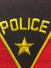 Vtg Generic POLICE Officer Patch Star Perfect 4 Costume Cosplay 61C8