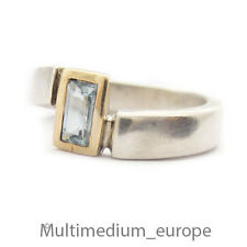 Silber Ring blau Topas vergoldet sterling silver gilt ring blue topaz 925