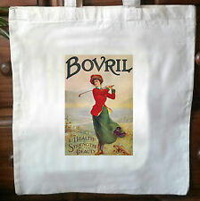 Vintage Shabby, Chic advert retro cotton cream tote bag No4