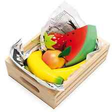 Le Toy Van Crate of Fruit | Wooden Toy Fruit in a Crate