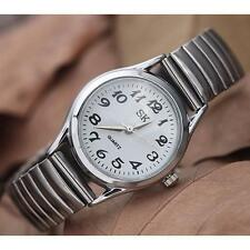 White Girls Fashion Quartz Stainless Steel Band Business Wrist Watch Watches DC
