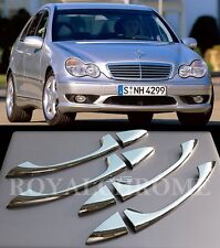 USA STOCK ROYAL CHROME Door Handle Trims for Mercedes W203 W211 W219 C E CLASS