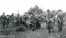 French Army Paratroopers Indochina Vietnam Mortar 1954 7x4 Inch Reprint Photo
