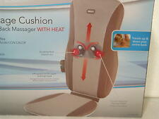 Homedics MCS-125H Shiatsu Back Massage Cushion W/Heat. Deep Kneading Action.