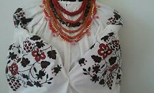 VERY BEAUTIFUL    VINTAGE UKRAINIAN ARCHAIC  Hand embroidered cotton  shirt.