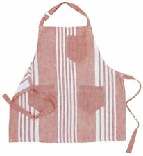 100% Turkish Cotton Nine Space Bali Children Stripe Kitchen Apron, Red-K1506047L