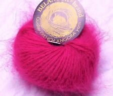 Deep Rose Pink FUCHSIA Galler BELANGOR 100% ANGORA Rabbit Fur X-SOFT Luxury Yarn