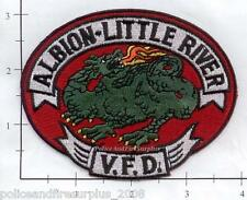 California - Albion - Little River CA Volunteer Fire Dept Patch  Dragon