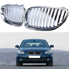 Fit BMW 5 Series E60 E61 2003-2009 Kidney Front Hood Grille Grill Chrome Plating