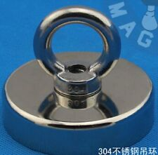 290Lbs N52 Pulling Mounting 130Kg Dia 75x18mm Ndfeb Magnet Pot Hook Attached