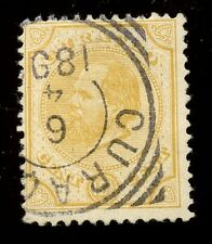 Netherlands Antilles CURACAO 1873-89 pf12½  12½c yellow SG27 FU tiny fault