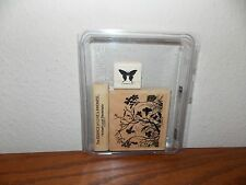 Stampin Up Essence of Love Butterfly Mounted Wooden Stamp Set of 3 L416