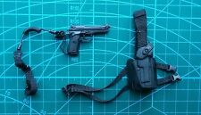 "1/6 Scale Hot Toys Navy Seal M9 Pistol + Holster 12"" figure use Halo Swat Marine"