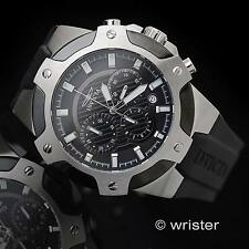 Men's Invicta Signature Chronograph Black Silicone 100M W/R 52mm SS Sport Watch