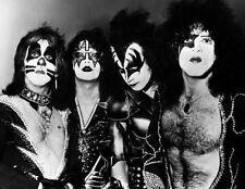 Kiss Paul Stanley, Gene Simmons Rock Band Glossy Music Photo Print Poster A4