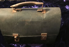 VINTAGE Black Metal Tin Lunchbox with Handle  1950's