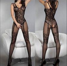 Hot Women Sexy Open Crotch Fishnet Body Stocking Bodysuit Nightwear Lingerie++