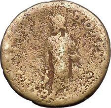 ANTONINUS PIUS Marcus Aurelius Father Ancient Roman Coin Snake Asclepius  i49435
