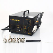 Gaoyue 850 SMD Hot Air Gun Solder Soldering Rework Iron Station w/ 5 Nozzles New