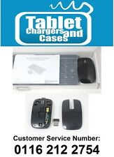 BLACK Wireless Sottile TASTIERA + num PAD & Mouse per Samsung ue37es6300 Smart TV