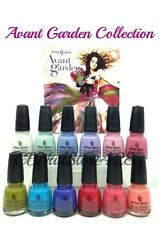 China Glaze -AVANT GARDEN Collection 12 colors 1145-1156 x.5oz