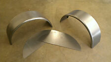 """PAIR of Steel Trailer Fenders Single Axle w/back 10.75""""x32"""" Round Style"""