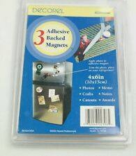 3 adhesive backed  refrigerator magnets 4x6 For photos crafts memo notes cutouts