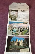 California The State That Has Nearly Everything Vintage Postcards 12 Foldout VG!